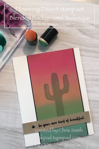 Stampin' Up!'s Flowering Desert Blended Background Panel card by Chris Smith at INkpad.typepad.com