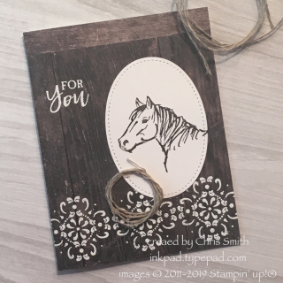 Stampin' Up! All Adorned Let It Ride horse card by Chris Smith at inkpad.typepad.com