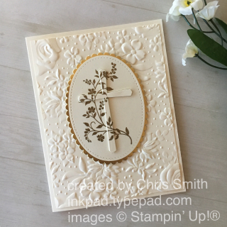 Stampin' Up! Hold on to Hope with Country Floral Easter or sympathy card by Chris Smith at inkpad.typepad.com