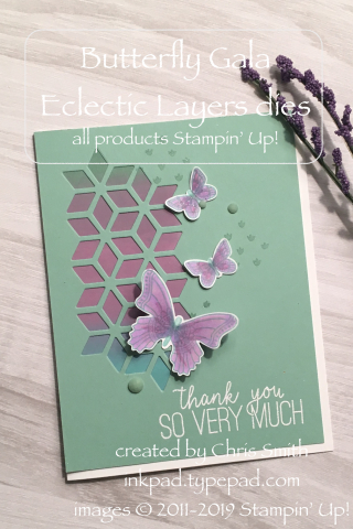 Stampin Up Butterfly Gala with Eclectic Layers at inkpad.typepad.com