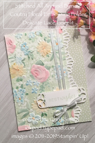 Stampin up stitched All Around with Country Floral by Chris Smith at inkpad.typepad.com