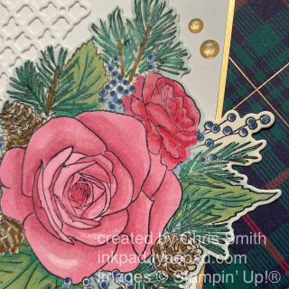 Stampin' Up Christmastime is Here suite with Perfectly Plaid Closeup by Chris Smith