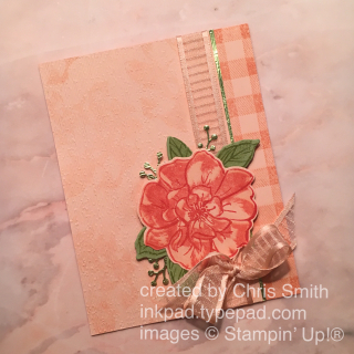 Stampin Up To A Wild Rose with Buffalo Check