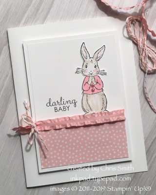 Stampin' Fable Friends baby card by Chris Smith at inkpad.typepad.com