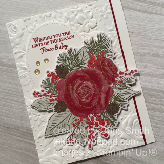 Stampin up Christmastime is Here suite with Country Floral card by Chris Smith