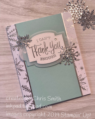 Stampin' Up! So Sentimental thank you card by Chris Smith at inkpad.typepad.com