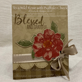 Su Stampin Up! To A Wild Rose with Buffalo Check vintage