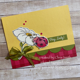Little Ladybug Buffalo Check card by Chris Smith at inkpad.typepad.com