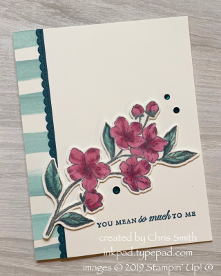 Stampin' Up! Forever Blossoms card by Chris Smith at inkpad.typepad.com