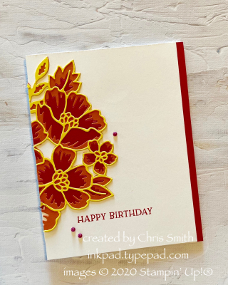 CC791 Blossoms in Bloom Birthday card by Chris Smith at inkpad.typepad.com