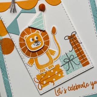 Stampin' Up! Birthday Bonanza sliding hat close-up card by Chris Smith
