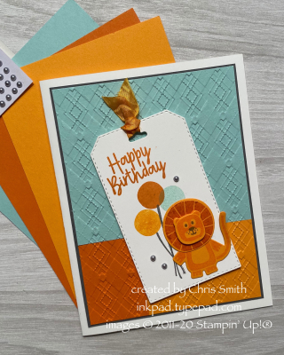 Bonanza Buddies Color Block card by Chris Smith at inkpad.typepad.com