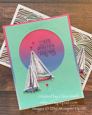 Sailing Home blended card by Chris Smith at inkpad.typepad.com