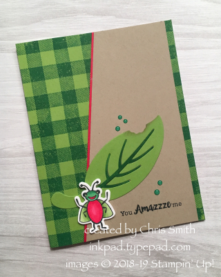 CC755 Wiggle Worm Bundle card by Chris Smith at Splitcoaststampers Color Challenge
