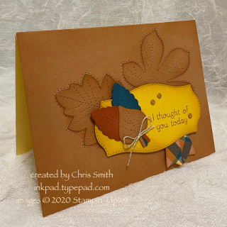 Love of Leaves with Plaid Tidings and Tasteful Labels card by Chris Smith at inkpad.typepad.com