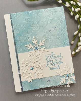 PCC391 Snowflake Wishes Thank you card by Chris Smith at inkpad.typepad.com