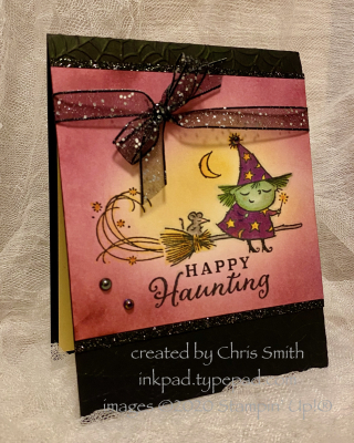 Flight of Fancy Happy Haunting card by Chris Smith at inkpad.typepad.com