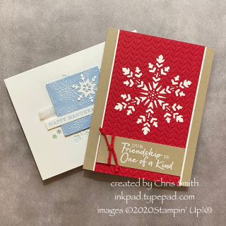 AWOW DUO with Snowflake Wishes cards by Chris Smith  Stampnin Up!