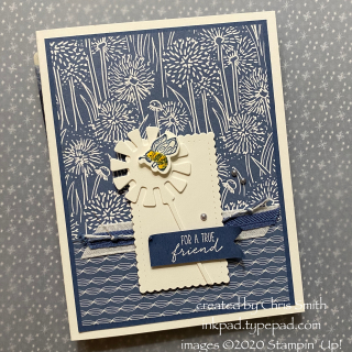 Stampin Up! Garden Wishes card square version at inkpad.typepad.com