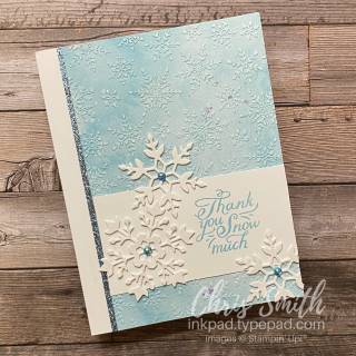 Stampin Up Snowflake Wishes thank you card by Chris Smith at inkpad.typepad.com