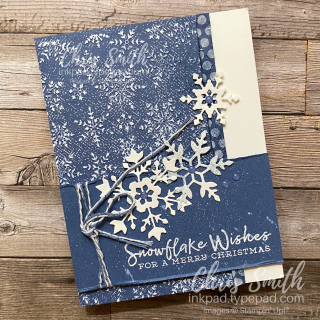 Stampin Up Snowflake Wishes Misty Moonlight card by Chris Smith at inkpad.typepad.com