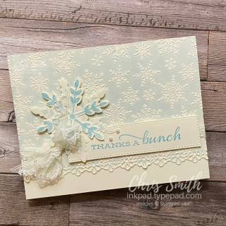 Stampin Up Snowflake Wishes Lace card by Chris Smith at inkpad.typepad.com