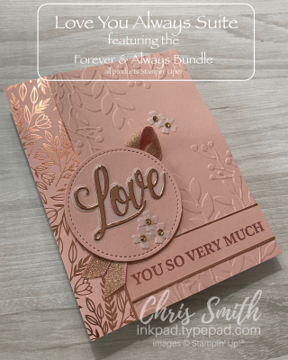 Forever & Always Blushing Bride card by Chris Smith at inkpad.typepad.com