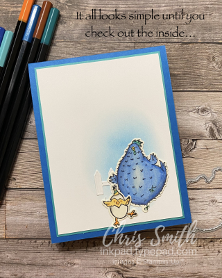 Hey Birthday Chick Twist Outside stampin up card by Chris Smith