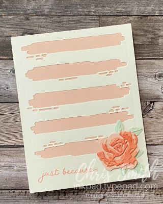 Die cut Brushed Blossoms stampin up card by Chris Smith