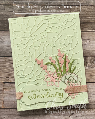 Simply Succulents Birthday Card Stampn' Up  Chris Smith