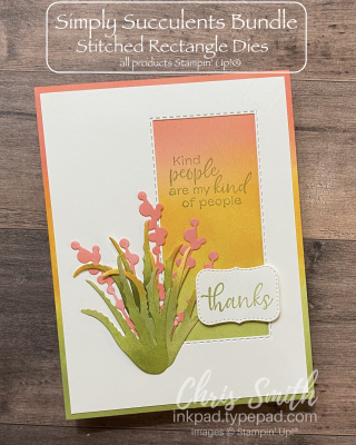 CC831 Simply Succulents Stampin Up card by Chris Smith