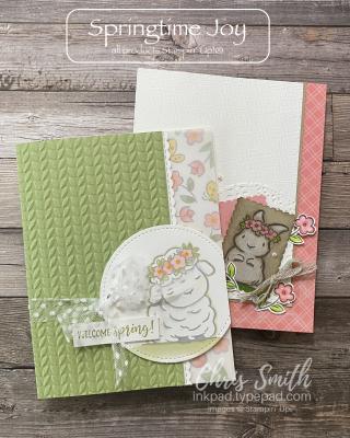Springtme Joy Stampin up card duo by Chris Smith
