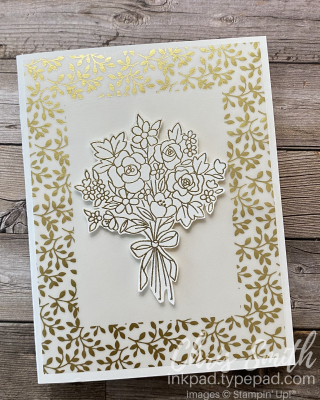 GOld Bouquet with Bouquet of hope paper pumpkin