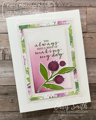 Berry Blessings stampin up frame card by Chris Smith