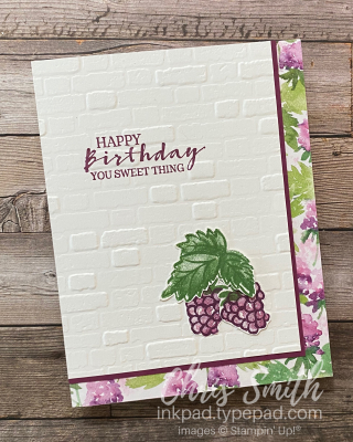 Sweet Strawberry Berry Blessings stampin up card by Chris Smith