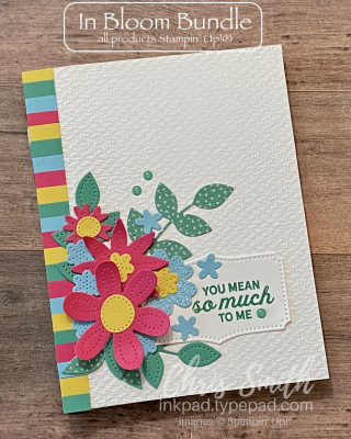 In Bloom Stampin up color block card by Chris Smith