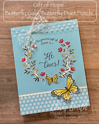 Gift of Hope Stampin Up Easter card