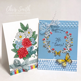 CC833 Duo with GIft of Hope and Ornate Garden stampin up cards by Chris Smith