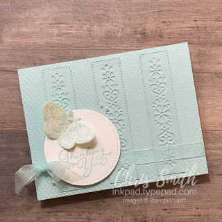 PCC416 Butterfly Brilliance with Happy THoughts Stampin Up card by Chris Smith