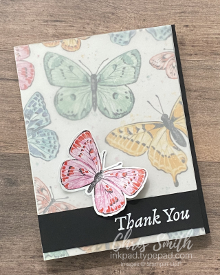 Butterfly Brilliance Happy Thoughts Stampin up DSP card by Chris Smith