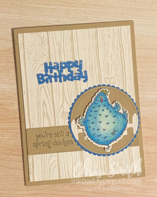 Crumb Cake Hey Chick Stampin up card by Chris Smith