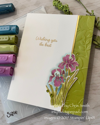 Inspiring Iris by Stampin' Up!; design by Chris Smith at inkpad.typepad.com