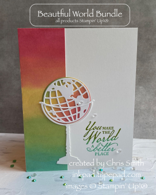 Beautiful World Upright view  - card by Chris Smith at inkpad.typepad.com