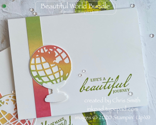 Beautiful World rainbow card by Chris Smith at inkpad.typepad.com