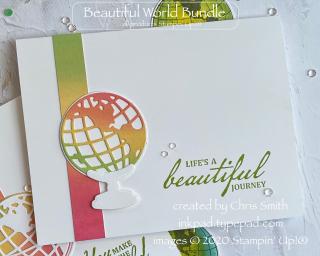 Beautiful World rainbow card by Chris Smith at inkpad.typepad.com