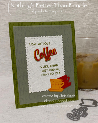 A Day Without Coffee Ice photo card by Chris Smith at inkpad.typepad.com
