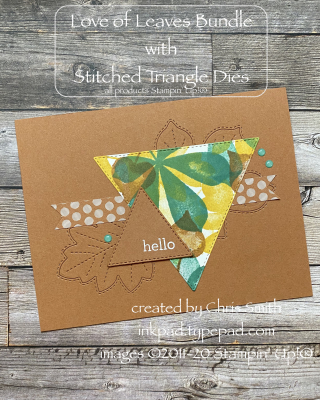 PCC386 8.10 Love of Leaves Triangle card at inkpad.typepad.com