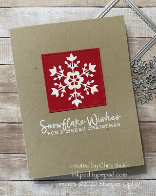 CC803 Snowflake Wishes Christmas Card by Chris Smith at inkpad.typepad.com