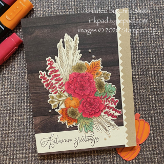 PCC394 Autumn Greetings  with Wood Tone card by Chris Smith at inkpad.typepad.com