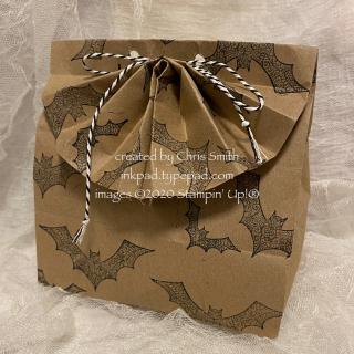 Lacey Bat fan fold bag at inkpad.typepad.com Halloween Night Magic